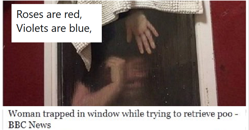 Roses are red, violets are blue – these 18 headlines are poetry too