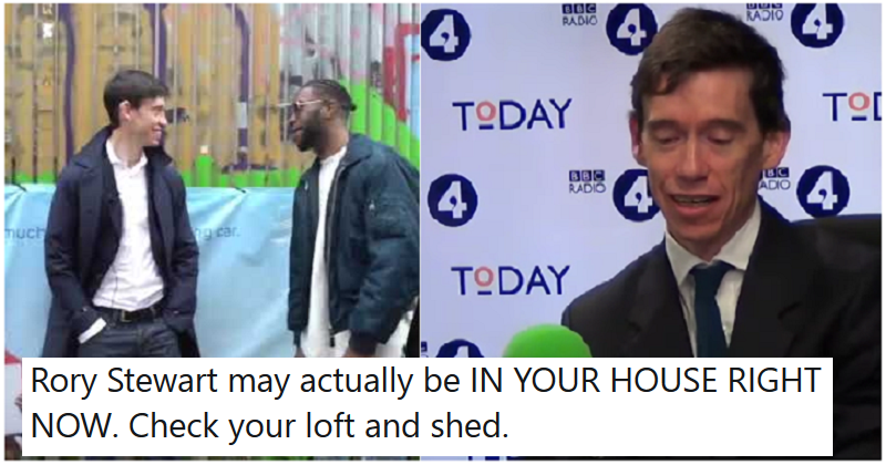 Rory Stewart has slept in the homes of more than 500 strangers – 9 hilarious reactions
