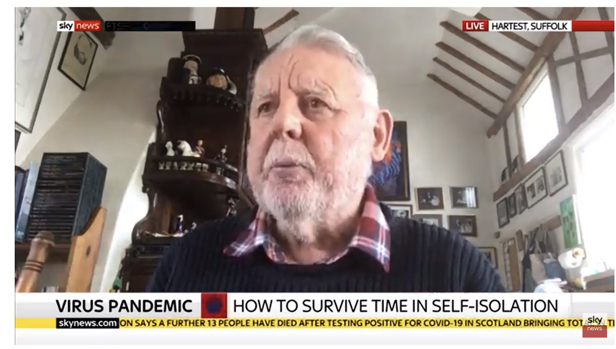 Sky News just interviewed Terry Waite about self-isolation – only 5 responses you need