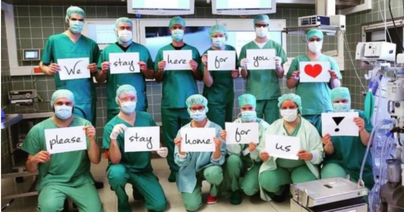 To all the coronavirus frontline heroes. This is for you. - the poke
