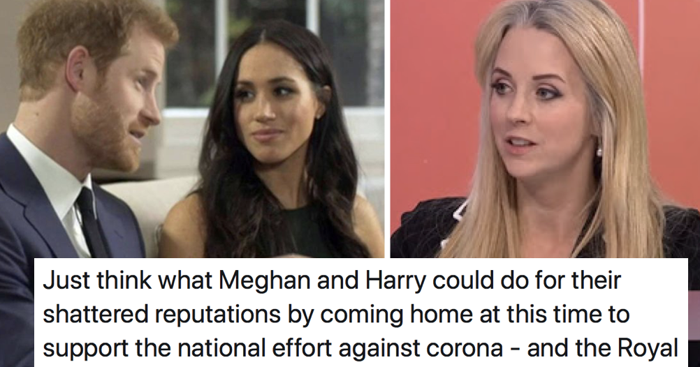 Isabel Oakeshott said Meghan and Harry should return to the UK to fight coronavirus – only 5 replies you need - the poke
