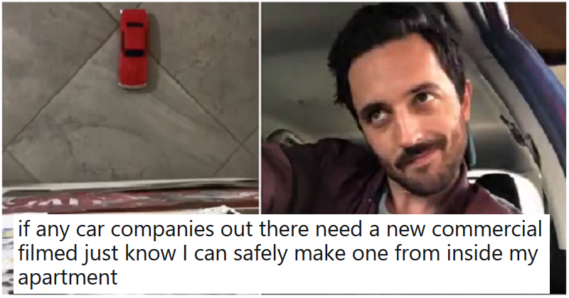 This hilarious car advert proves that anything is possible in a lockdown - the poke