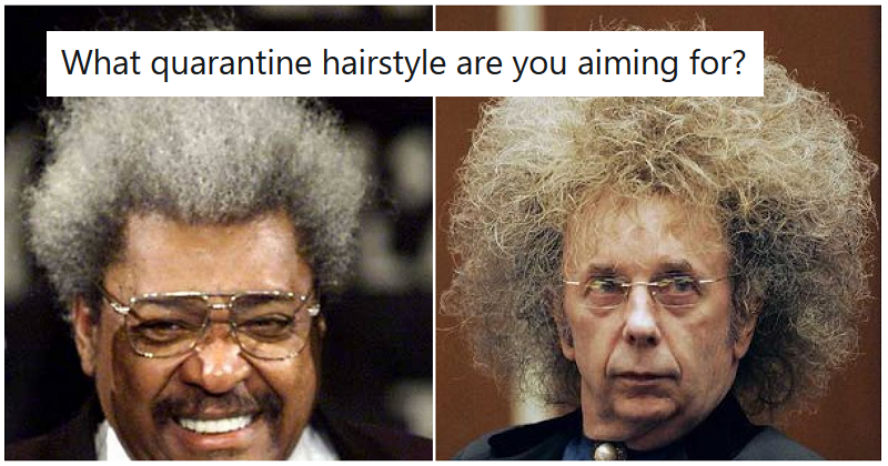 What quarantine hairstyle are you aiming for? – the 15 best/worst