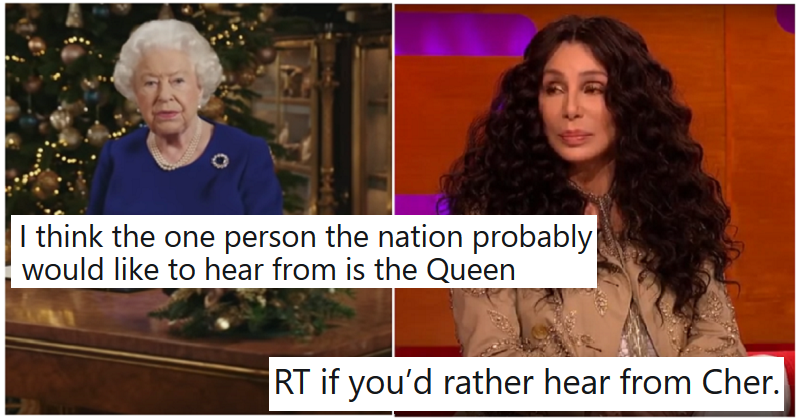 Someone suggested people really want to see the Queen, but - well, they don't