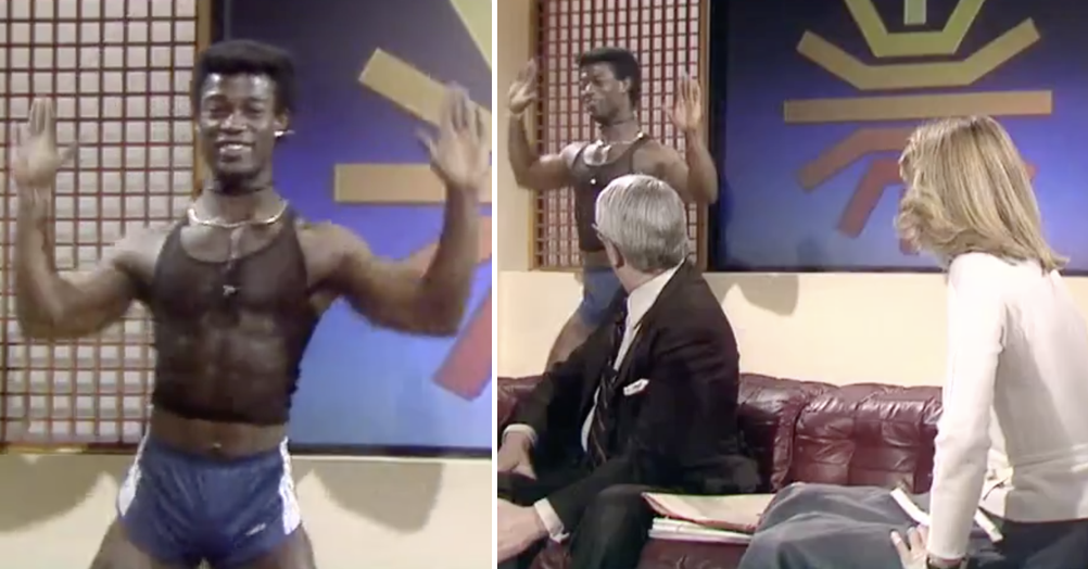 This archive clip of the old BBC Breakfast fitness guy went viral because, well, have a watch for yourself