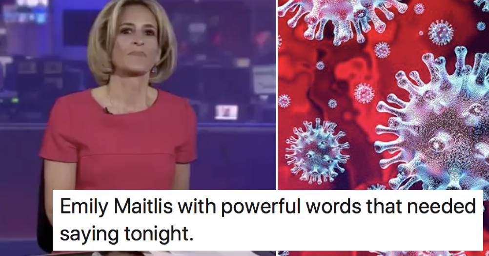 Emily Maitlis has just gone viral with this brilliant myth-busting monologue about coronavirus - the poke