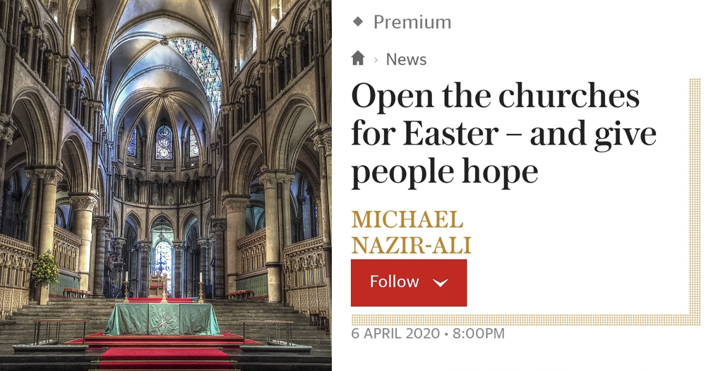 Only 4 responses you need to the idea that churches should open for Easter - the poke