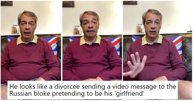 12 thoughts people had about Nigel Farage doing Facebook Live in eye-wateringly short shorts - the poke