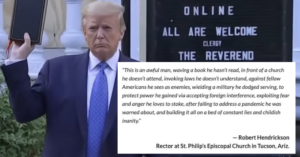 This priest's takedown of bible-waving Donald Trump went viral because it says it all in a single sentence