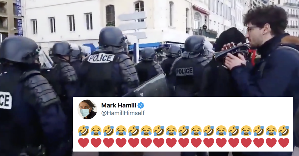This guy trolling police with Star Wars' Imperial March is exactly the content we need today