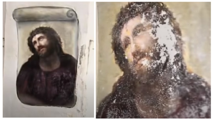 There's been another botched art restoration and we can't help laughing |  The Poke
