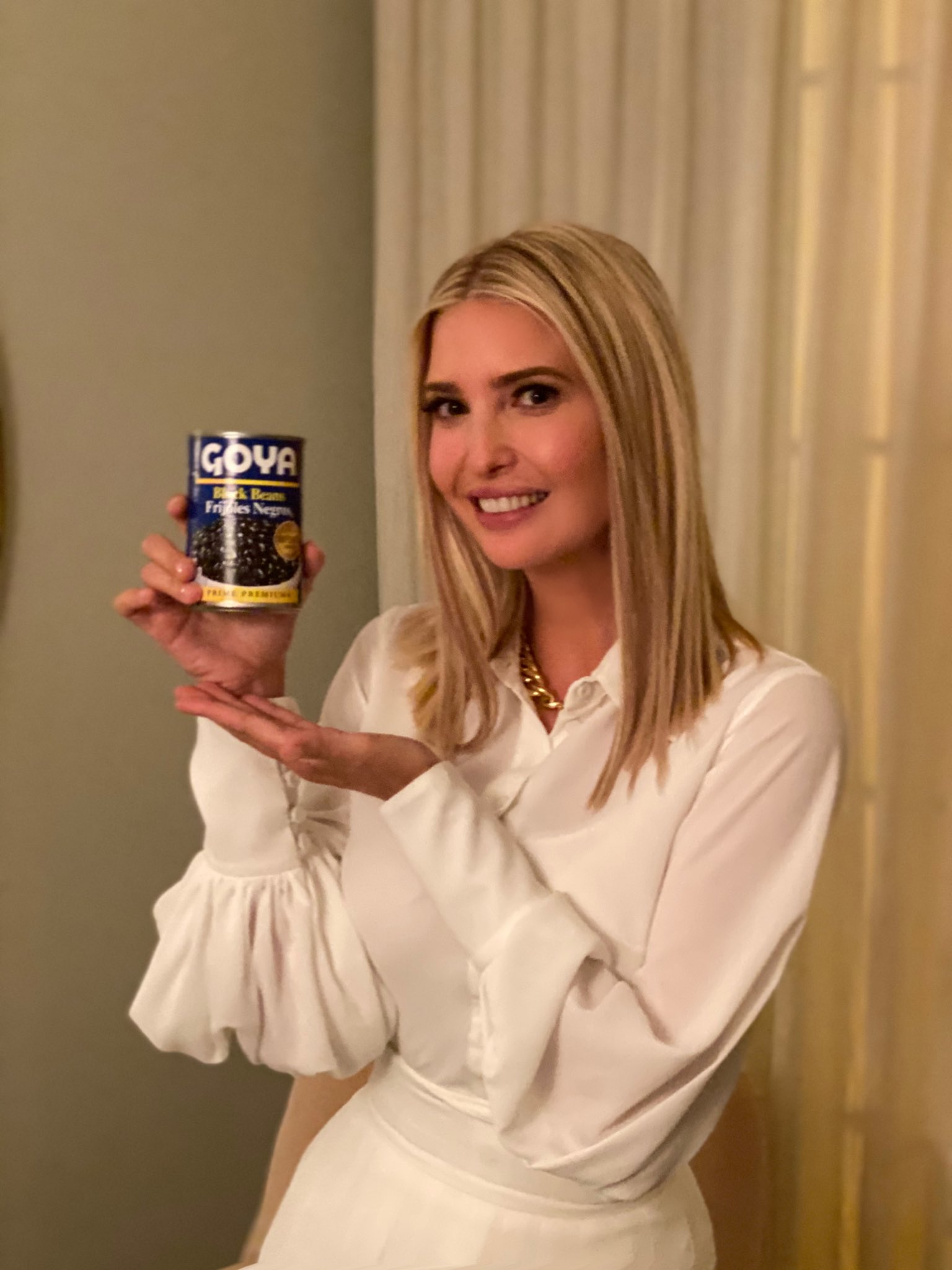 Our favourite things people photoshopped into Ivanka Trump's Goya beans picture - the poke