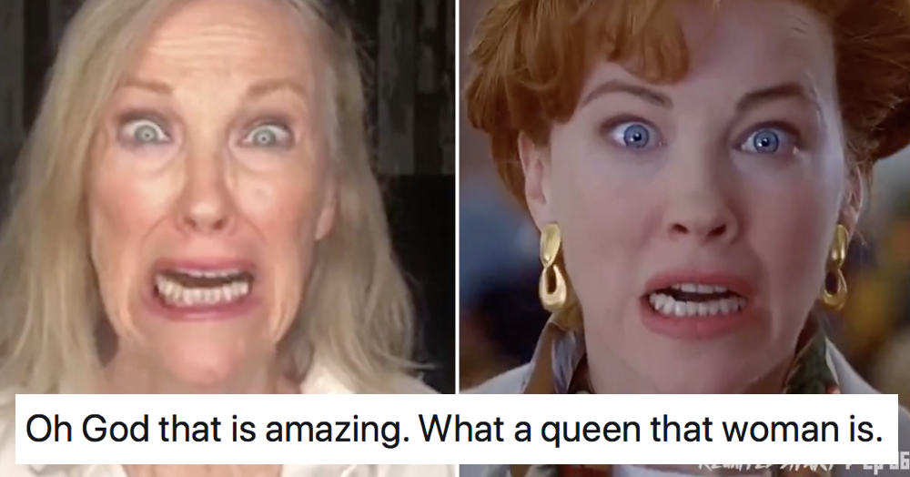 Catherine O'Hara recreating her iconic moment from Home Alone is all kinds of awesome