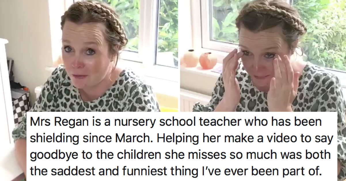 This teacher trying to say farewell to her class is utterly lovely