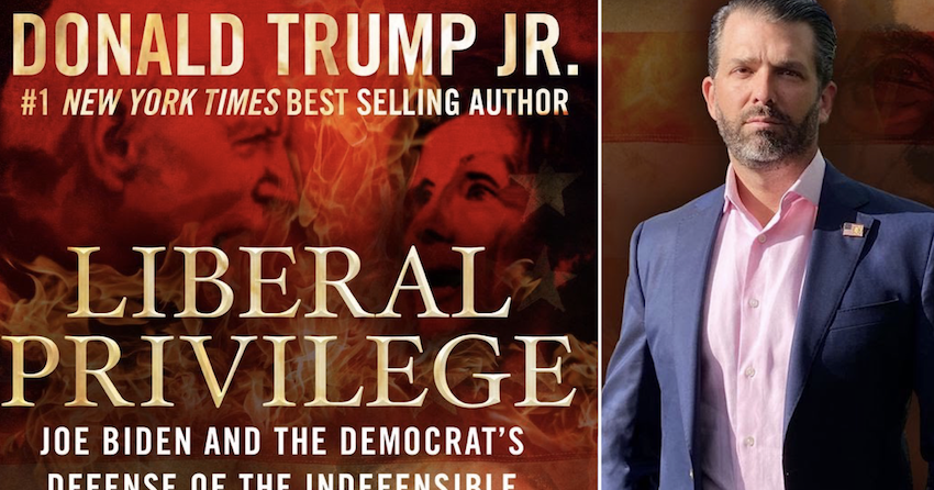 There's a schoolboy error on the front of Donald Trump Jr's new book and it's perfect