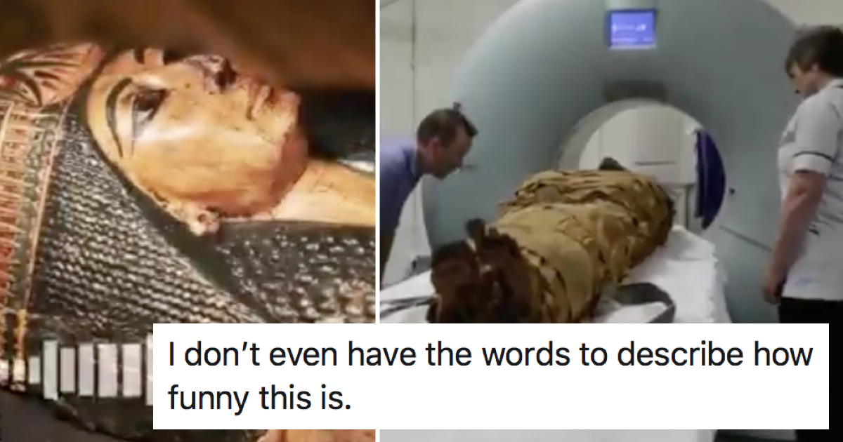 'Remember when technology gave us the mummy's voice'