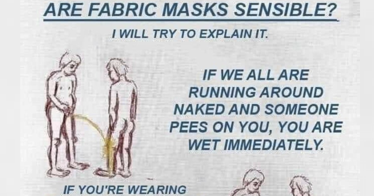 This handy explanation for anyone who still won't wear a mask is both funny and useful - the poke