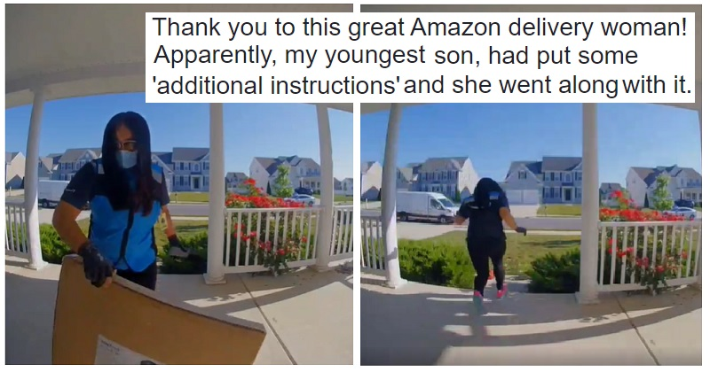 This Amazon delivery driver went above and beyond to follow the special instructions