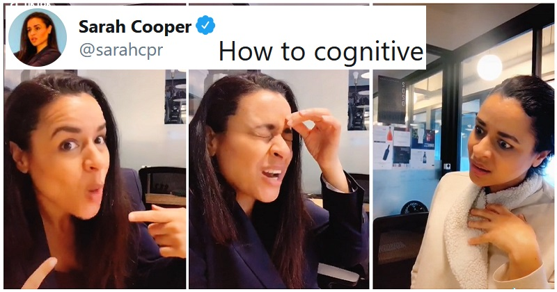 """Sarah Cooper's """"How to cognitive"""" lip-synch shines a hilarious light on Trump's own words"""