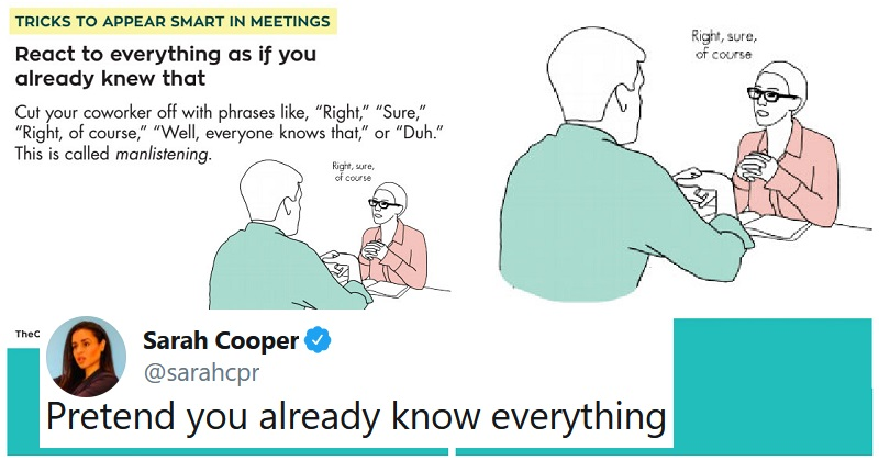 If you want to appear smart in meetings without doing any work – this is how