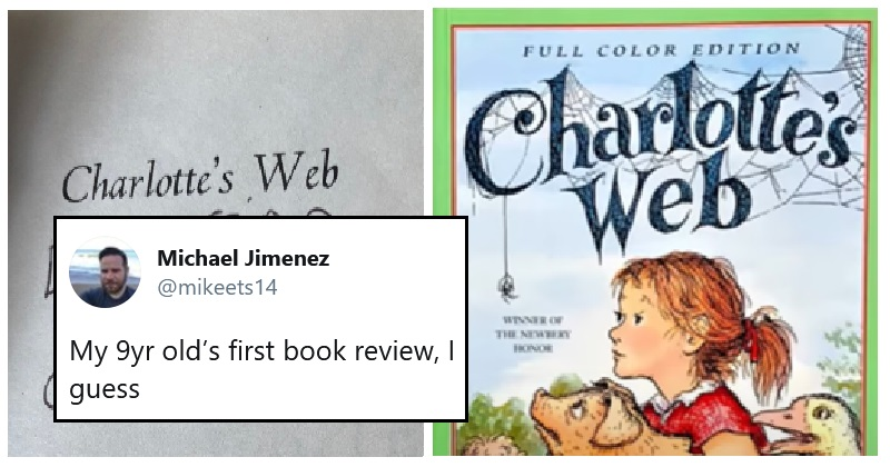 This 9-year-old's review of Charlotte's Web is as devastating as it is heartfelt