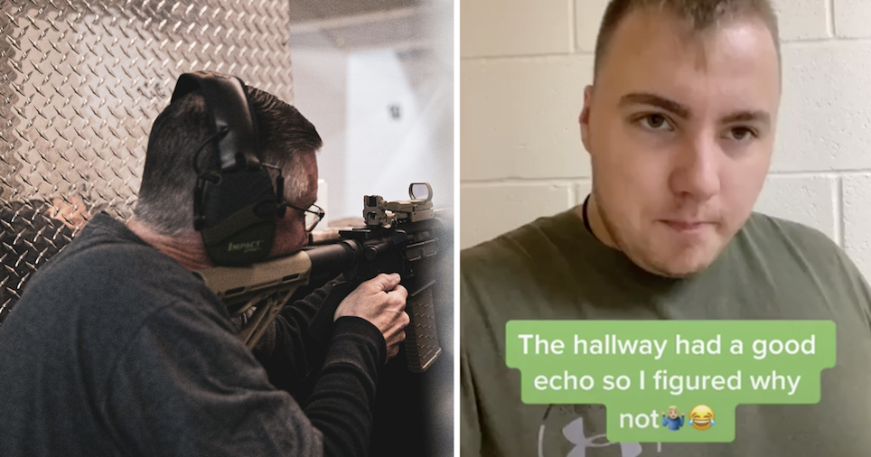 This guy's incredible gun impressions will have you ducking for cover - the poke