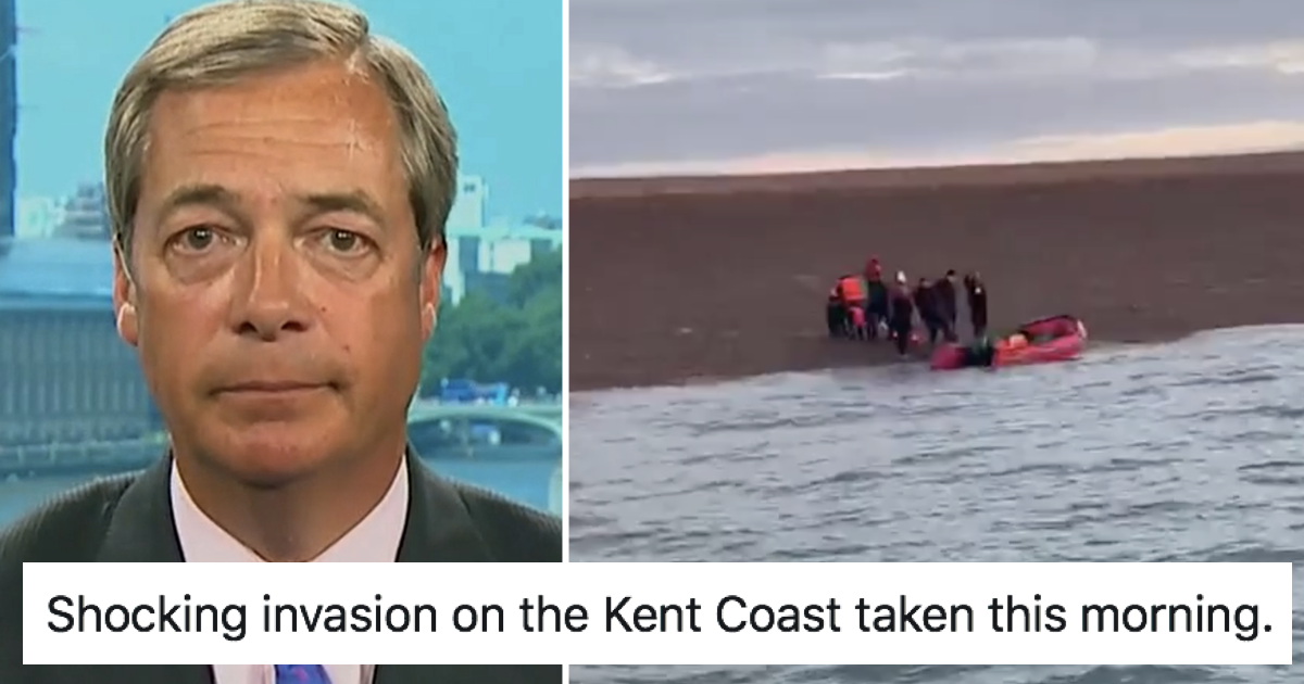 Nigel Farage posted a video of 'migrants' landing in Kent – only 5 responses you need - the poke