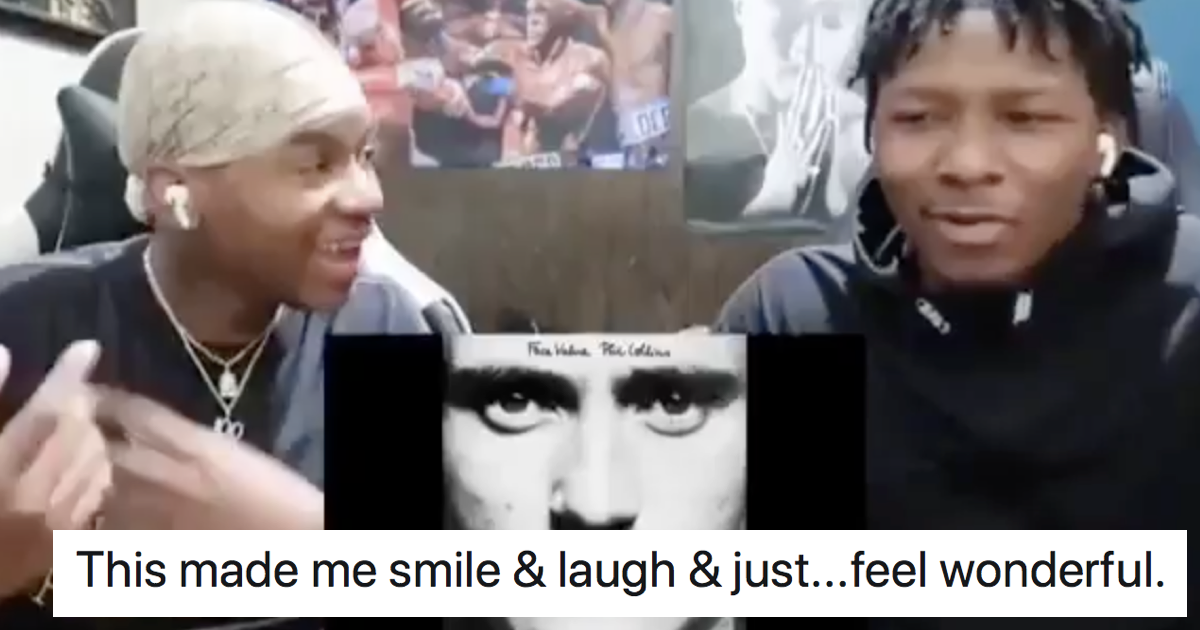 People love these teens' reaction to hearing Phil Collins for the first time - the poke