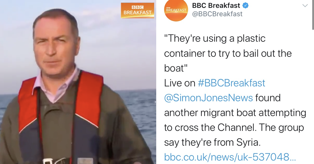 Breakfast TV filmed migrants bailing out water from their boat in the English Channel – only responses you need - the poke