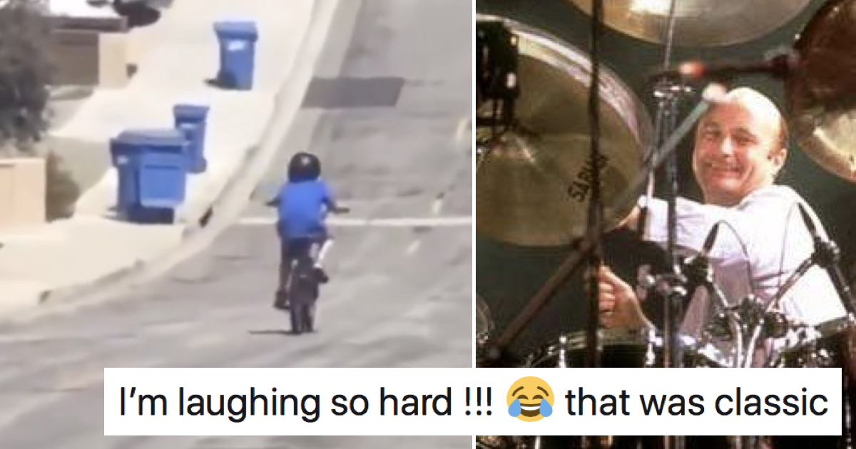 This kid's bike crash goes so well with Phil Collins' In The Air Tonight it's uncanny