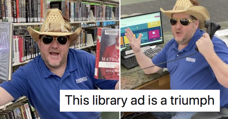 This American library advert went viral because, well, have a watch for yourself - the poke