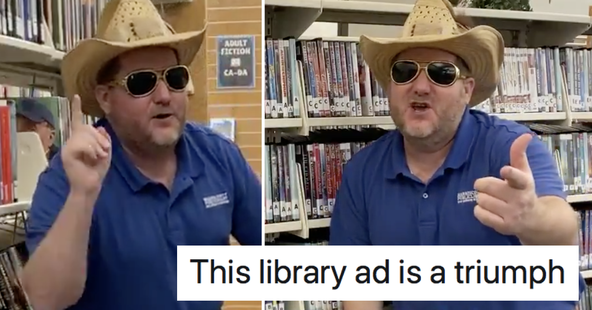 This American library advert went viral because, well, have a watch for yourself