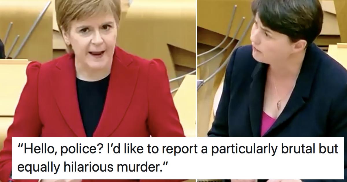 Nicola Sturgeon's takedown of Ruth Davidson is simply glorious