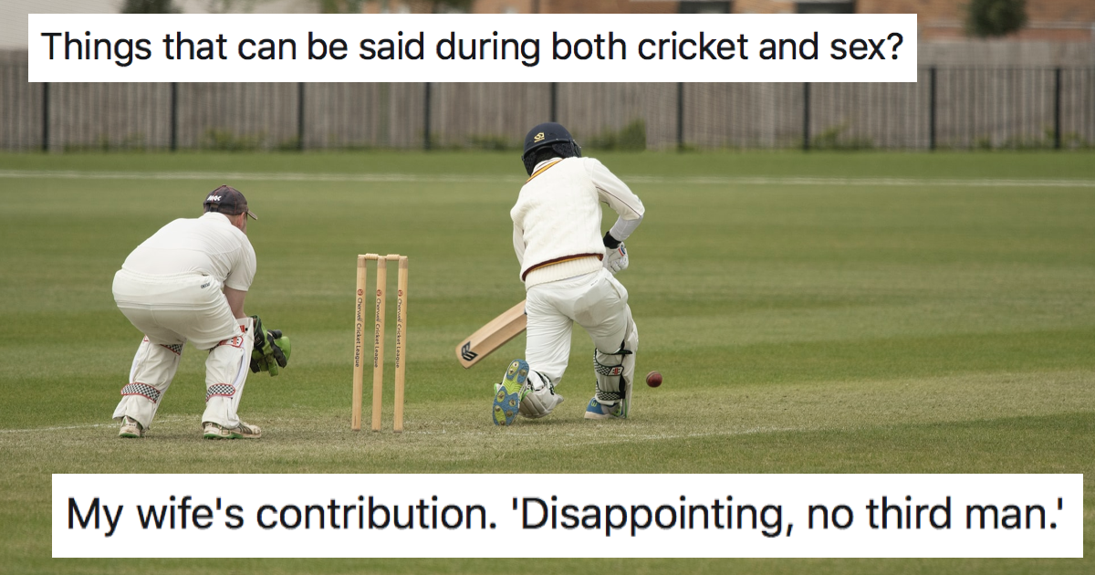People are sharing things you can say both during cricket and sex - 9 favourites