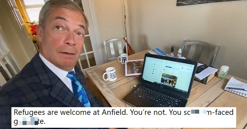 The only 5 brutal responses you need to Nigel Farage complaining about refugees visiting Anfield - the poke