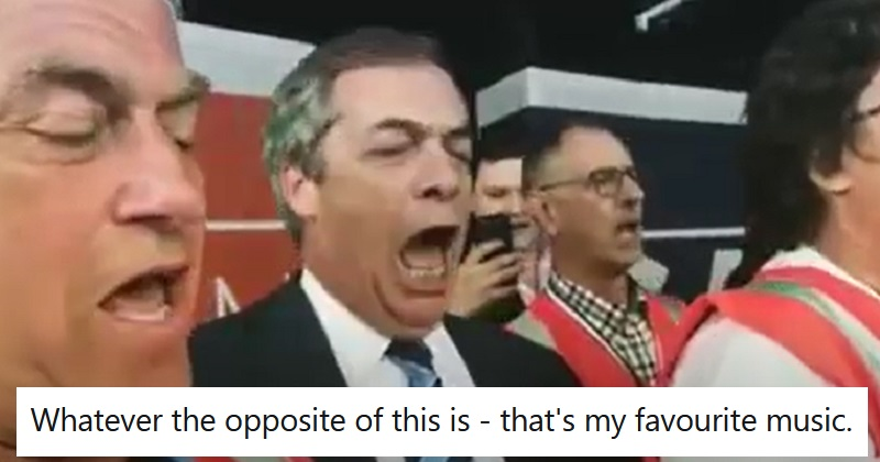 Simply the 5 funniest things people said about Nigel Farage singing Rule Britannia