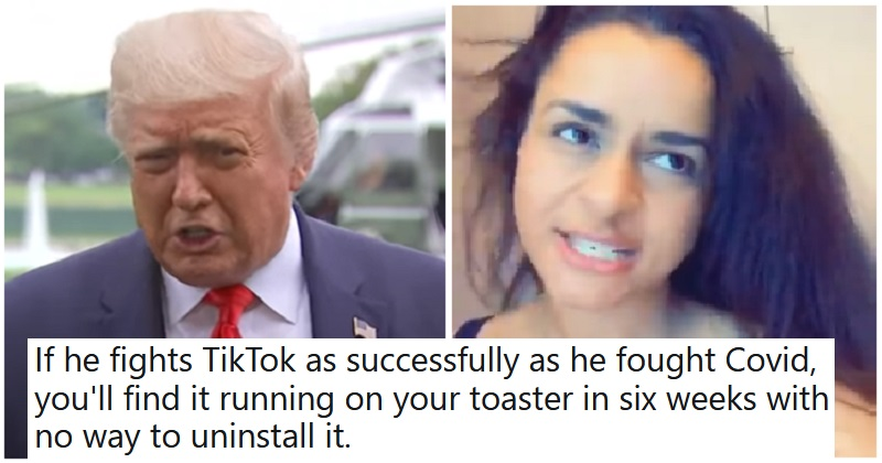 Trump's threat to ban TikTok got the lip-synch treatment – and a lot more - the poke