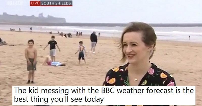 A dancing boy videobombed the weather forecast and went down a storm - the poke