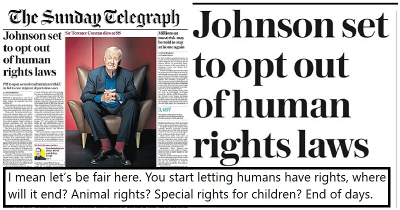 Boris Johnson plans to 'opt out of Human Rights laws' – 11 firm objections