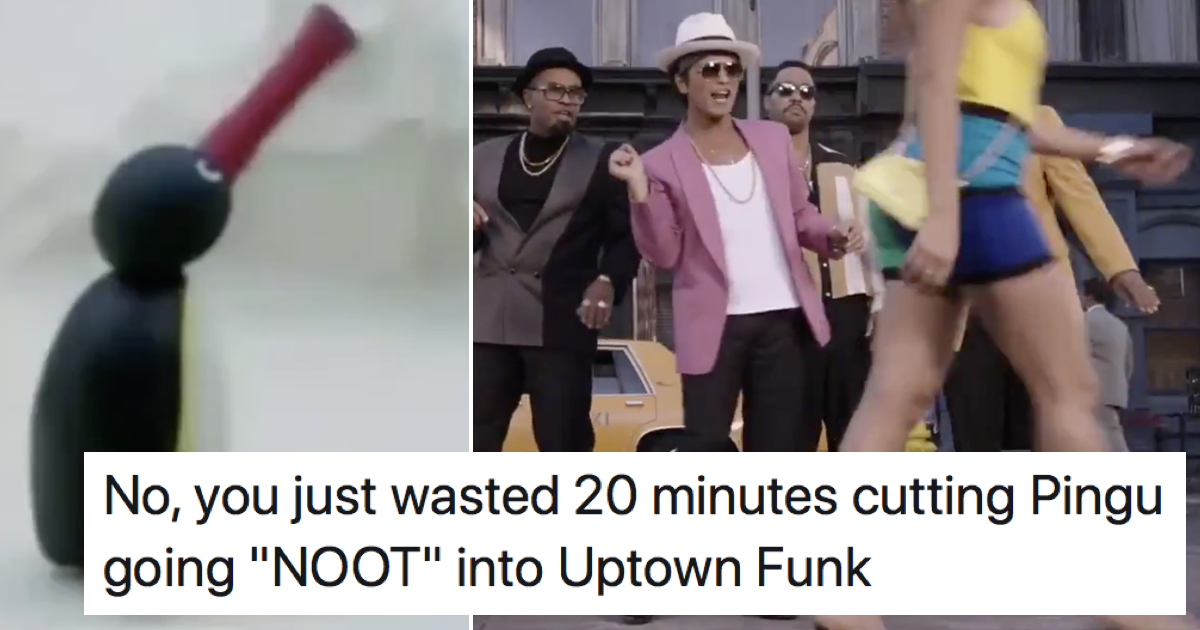 This mash-up of Uptown Funk and Pingu is simply glorious