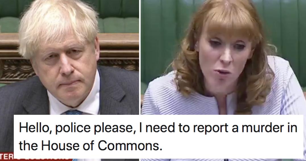 Angela Rayner's takedown of Boris Johnson at PMQs had the internet cheering