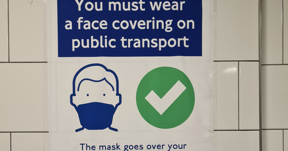 This public transport face mask campaign really isn't messing around