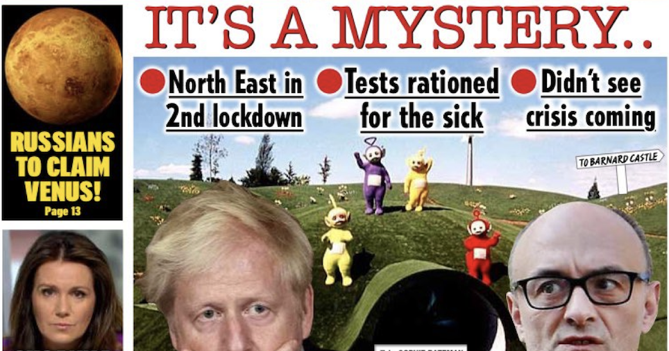 The Daily Star's front page knocked it out of the park again - the poke