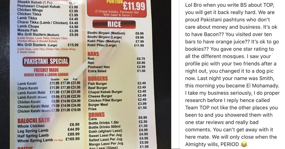 People enjoyed this restaurant's takedown of unfair reviews