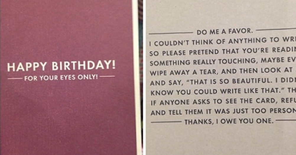 This might be the perfect birthday card - the poke