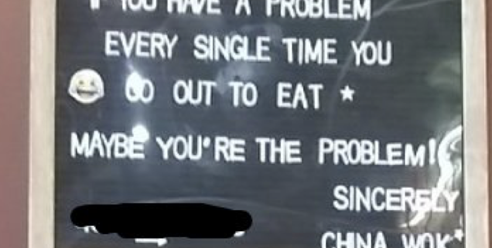 This restaurant's response for people who leave picky one-star reviews is simply delicious
