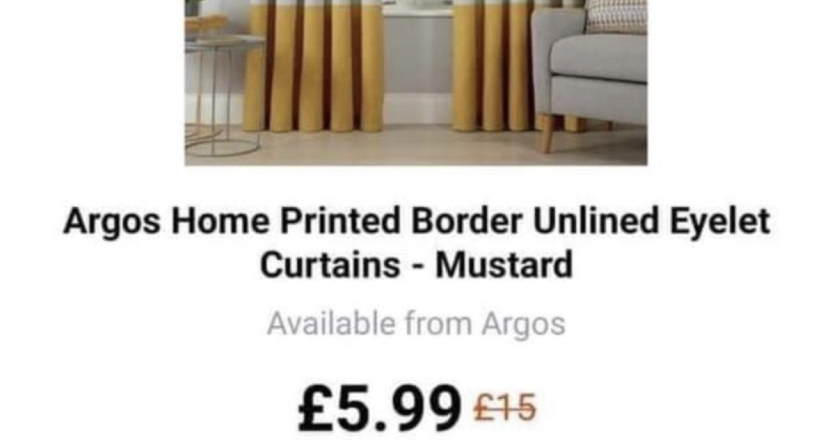 These Argos curtains look uncannily like a pack of 10 giant cigarettes - the poke