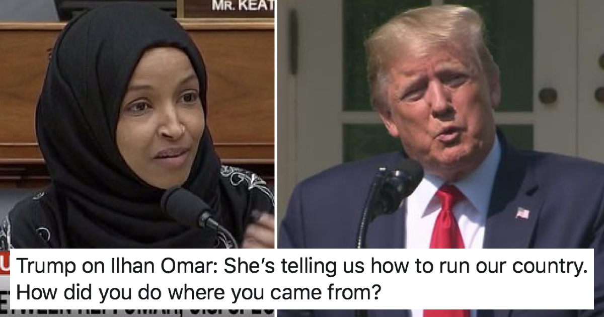 A Somali-born congresswoman had the perfect response to Donald Trump's racist attack - the poke