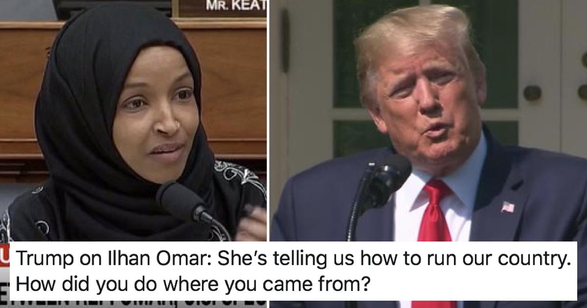 A Somali-born congresswoman had the perfect response to Donald Trump's racist attack