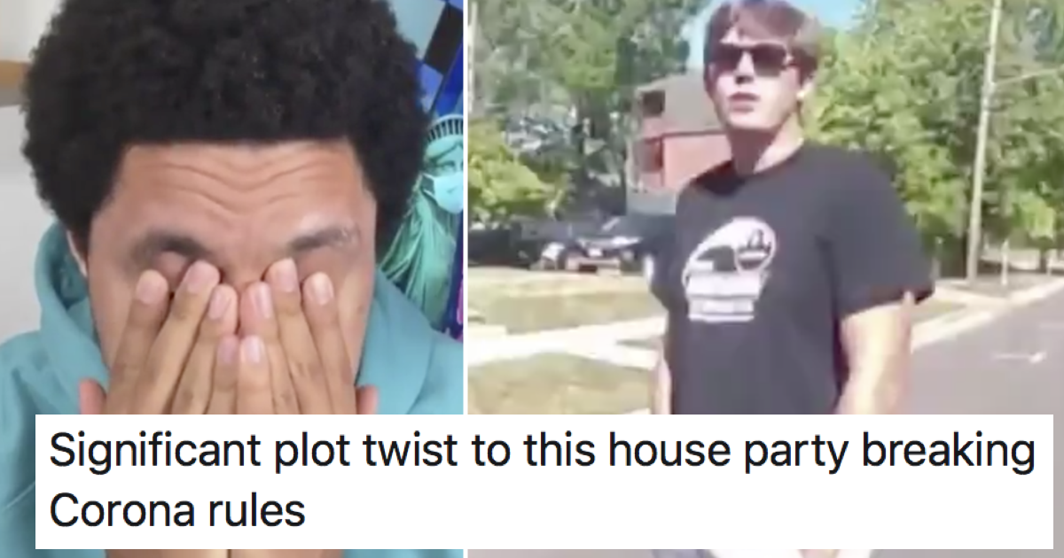 This covidiot house party guy is the runaway winner of facepalm of the week